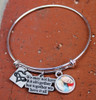 Bangle Charm Bracelet with a Photo