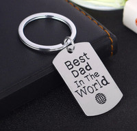 """Best Dad in the World"" Key Chain"