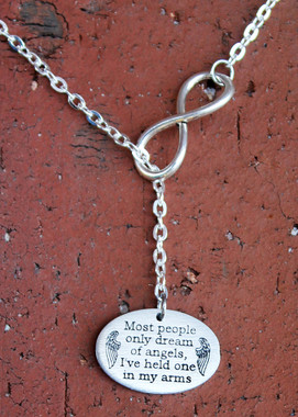 """""""Most people only dream of angels..."""" Infinity Necklace"""