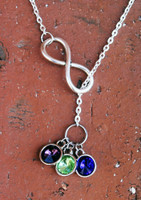 Birth Stone Infinity Necklace