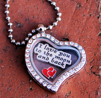 """I love you to the moon and Back"" Heart Locket"