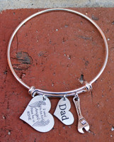 """I used to be his Angel"" Bangle Bracelet"