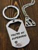 "Superhero & Sidekick Necklace and/or Key Chain Set - ""S"""