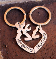 """Her Buck"" and ""His Doe"" Key Chain Set"