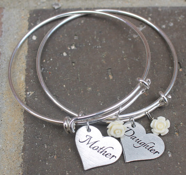 """Mother"" & ""Daughter"" Bangle Set"