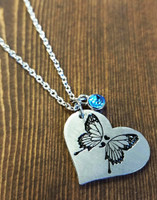 Semi Colon Butterfly Necklace