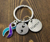 Suicide Awareness Prevention Key Chain, warrior , semi colon