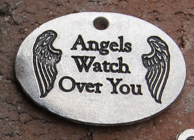 """Angels Watch Over You"" Charm"