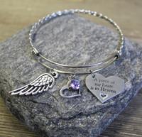 """A piece of my heart"" Braided Bracelet"
