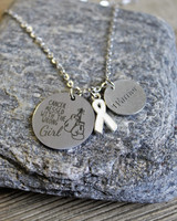 """Cancer messed with the wrong girl"" Necklace"