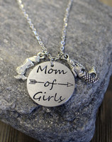 Mom of Girls Necklace