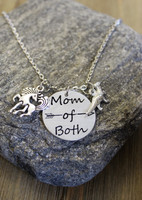 Mom of Both Dinosaur & Unicorn Necklace