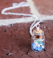 Sea Glass Vial Necklace