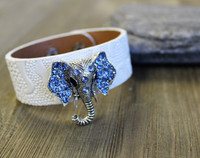 Leather Bracelet - Elephant