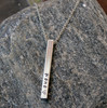 Personalized Vertical Name Necklace (4 sides)