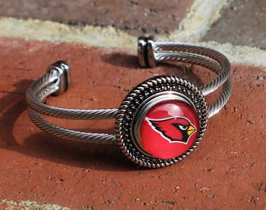 "NFL ""Arizona Cardinals"" Snap Bracelet (770)"