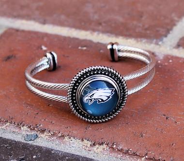 "NFL ""Philadelphia Eagles"" Snap Bracelet"