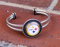 "NFL ""Pittsburgh Steelers"" Snap Bracelet"