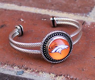 """NFL """"Denver Broncos"""" Snap Bracelet"""