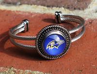 "NFL ""Baltimore Ravens"" Snap Bracelet"