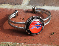 "NFL ""Buffalo Bills"" Snap Bracelet"