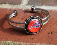 "NFL ""Buffalo Bills"" Snap Bracelet"