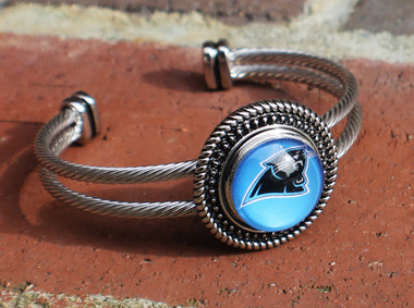 "NFL ""Carolina Panthers"" Snap Bracelet"