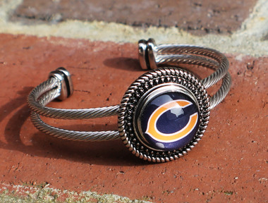 "NFL ""Chicago Bears"" Snap Bracelet"