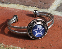 "NFL ""Dallas Cowboys"" Snap Bracelet"
