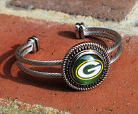 "NFL ""Green Bay Packers"" Snap Bracelet"