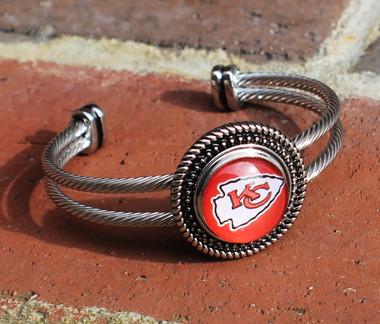 "NFL ""Kansas City Chiefs"" Snap Bracelet"