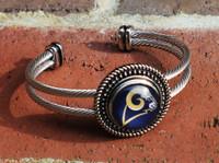 """NFL """"Los Angeles Rams"""" Snap Bracelet"""