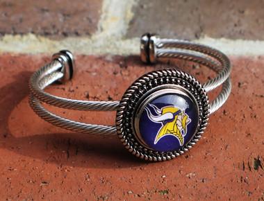 "NFL ""Minnesota Vikings"" Snap Bracelet"
