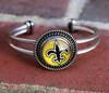 """NFL """"New Orleans Saints"""" Snap Bracelet (793)"""