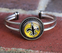 "NFL ""New Orleans Saints"" Snap Bracelet (793)"