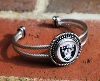 "NFL ""Oakland Raiders"" Snap Bracelet"