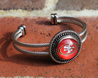 "NFL ""San Francisco 49ers"" Snap Bracelet"