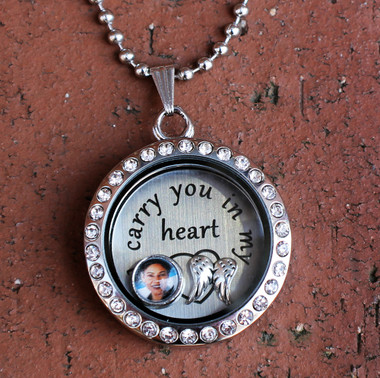 "Create Your Own ""I carry you in my heart"" Floating Locket"