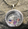 """Grandpa"" - ""I carry you in my heart"" Floating Charm Locket"