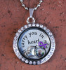 """""""Papa"""" - """"I carry you in my heart"""" Floating Charm Locket"""