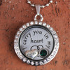 """Sister"" - ""I carry you in my heart"" Floating Charm Locket"