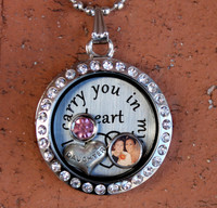 """Daughter"" - ""I carry you in my heart"" Floating Charm Locket"