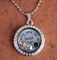 """Brother"" - ""I carry you in my heart"" Floating Charm Locket"