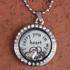 """Dad"" - ""I carry you in my heart"" Floating Charm Locket"