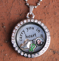 """Husband"" - ""I carry you in my heart"" Floating Charm Locket"