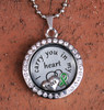 """Uncle"" - ""I carry you in my heart"" Floating Charm Locket"