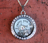 "Pet - ""I carry you in my heart"" Floating Charm Locket (824)"