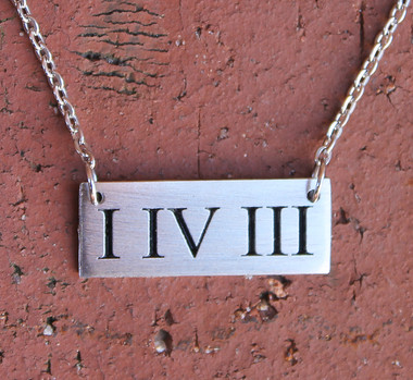 """I IV III"" Necklace (I LOVE YOU)"