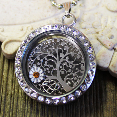 Blossoming Tree Floating Locket