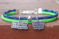 Two Strand Bracelet (Choose your colors and charm)